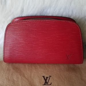 Louis Vuitton Red Epi Dauphine MM